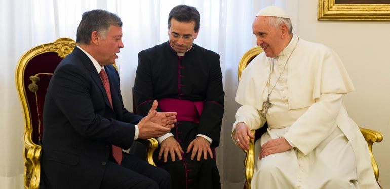 King Abdullah II and Pope Francis
