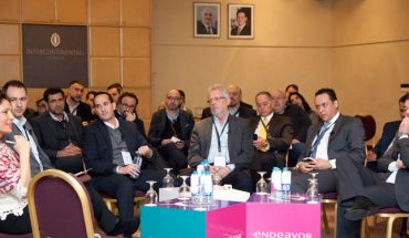 Jordanian entrepreneurs at the launch of an Endeavor survey