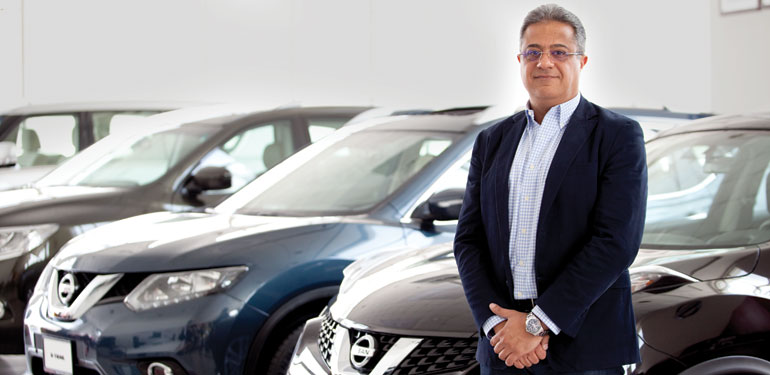 Wessam Issa, the CEO of Bustami and Saheb, dealer of Leaf Electric Car