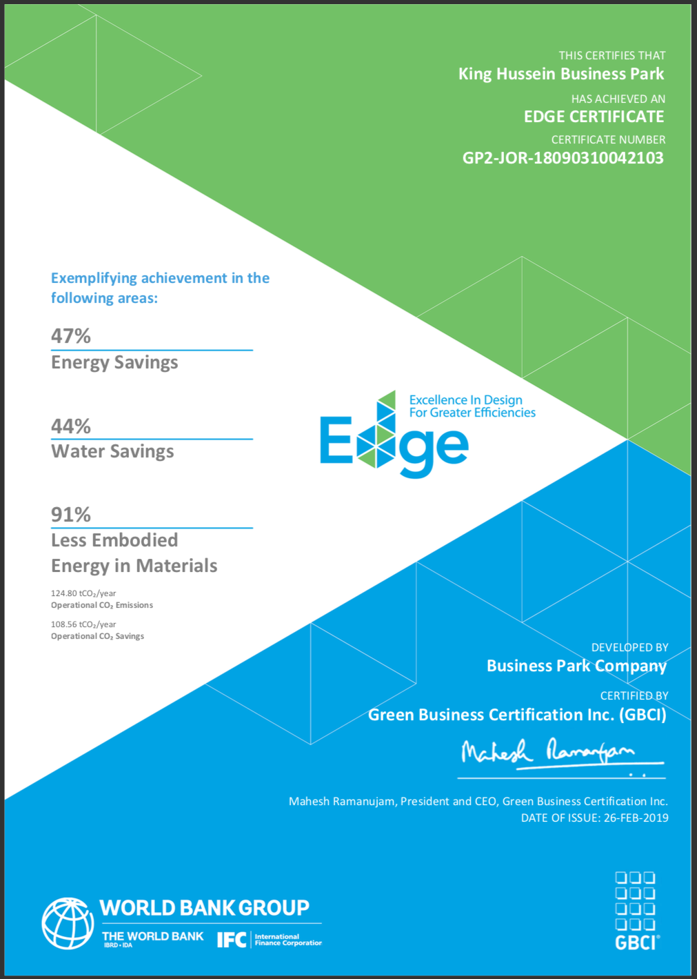 The First Jordanian Institution to Achieve EDGE Certification